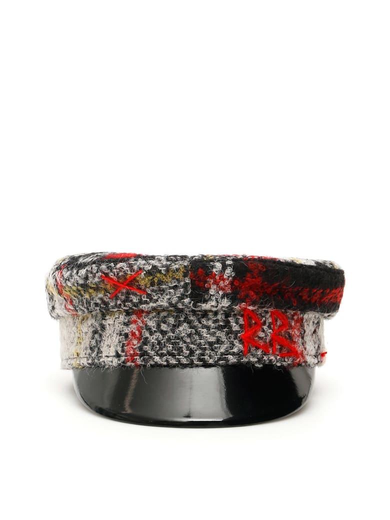 Ruslan Baginskiy Baker Boy Tartan Hat - MULTI BLACK (Red)