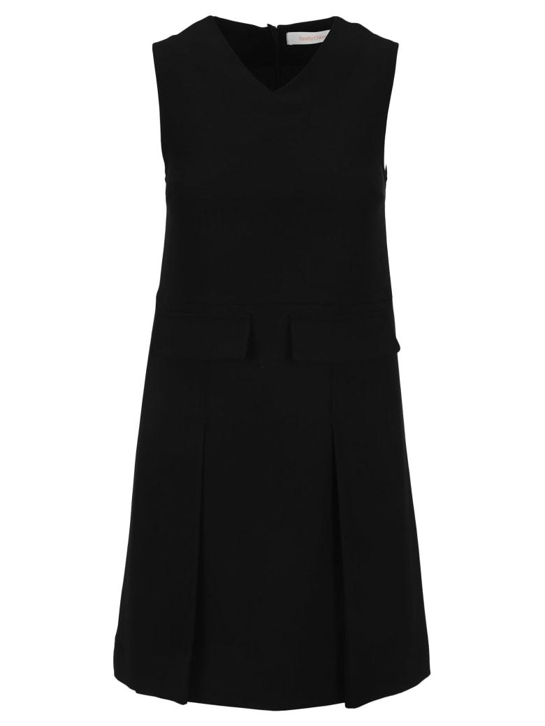 See by Chloé See By Chloe' Sleeveless V-neck Dress - BLACK