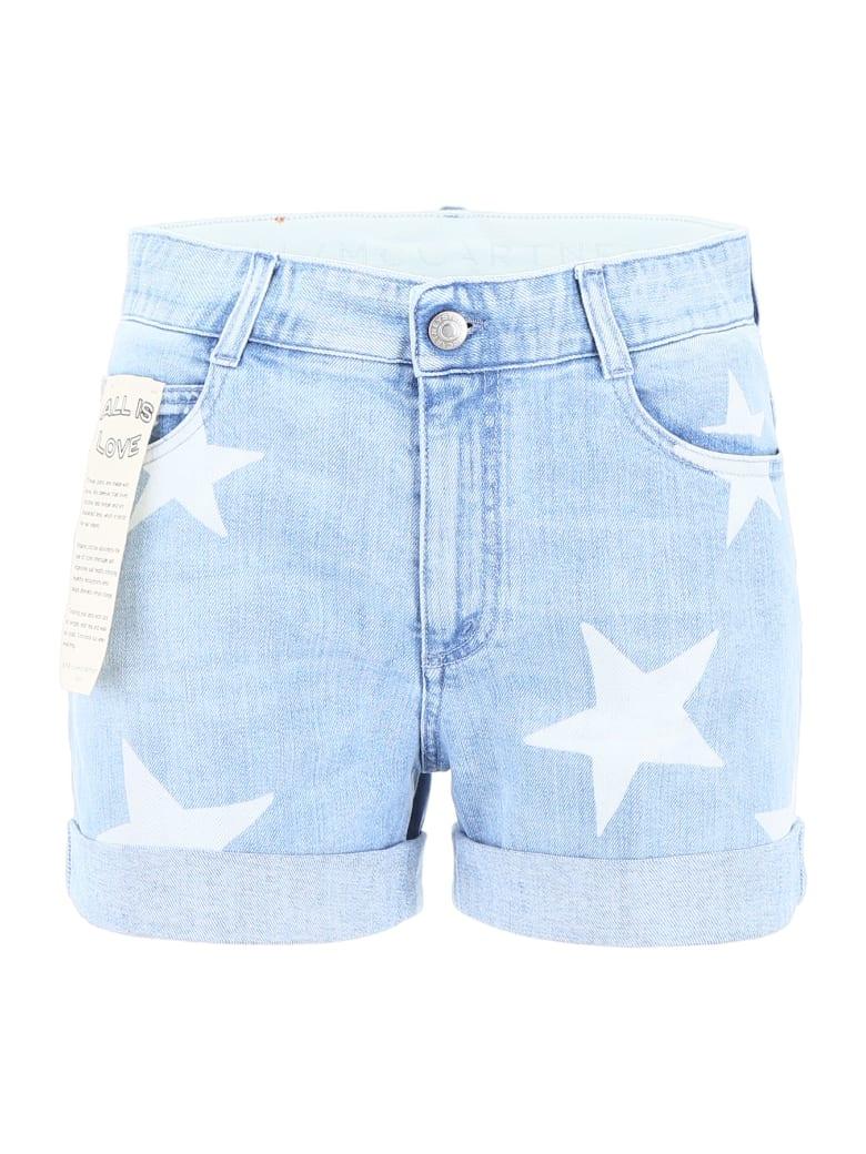 Stella McCartney Star Print Shorts - CLASSIC BLUE (Light blue)