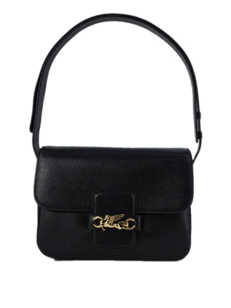 Etro Black Leather Shoulder Bag - Nero
