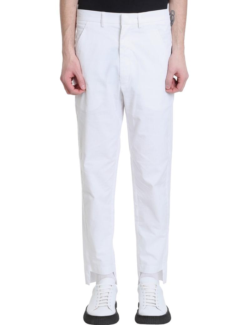Maison Flaneur Chino White Velour Pants - white