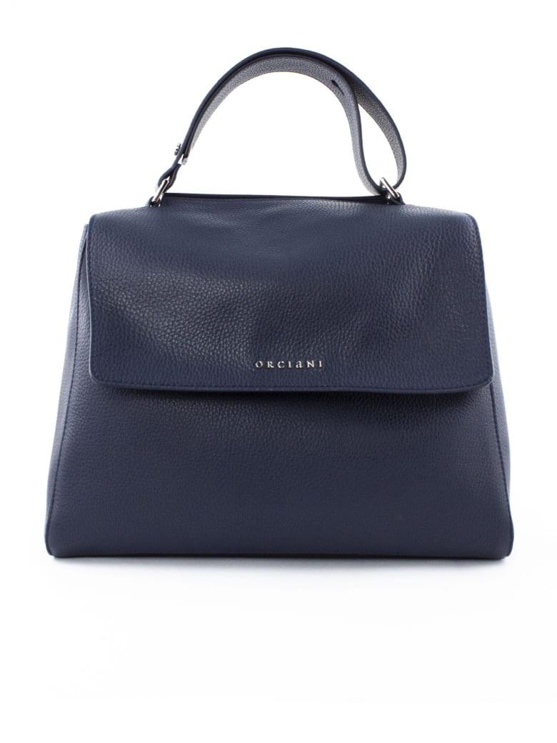 Orciani Navy Leather Sveva Bag - Blu