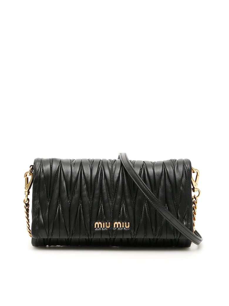 Miu Miu Matelasse' Clutch - NERO (Black)