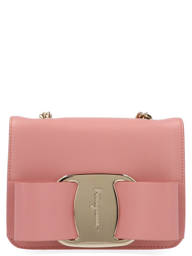 Salvatore Ferragamo 'vara Rainbow' Bag - Beige