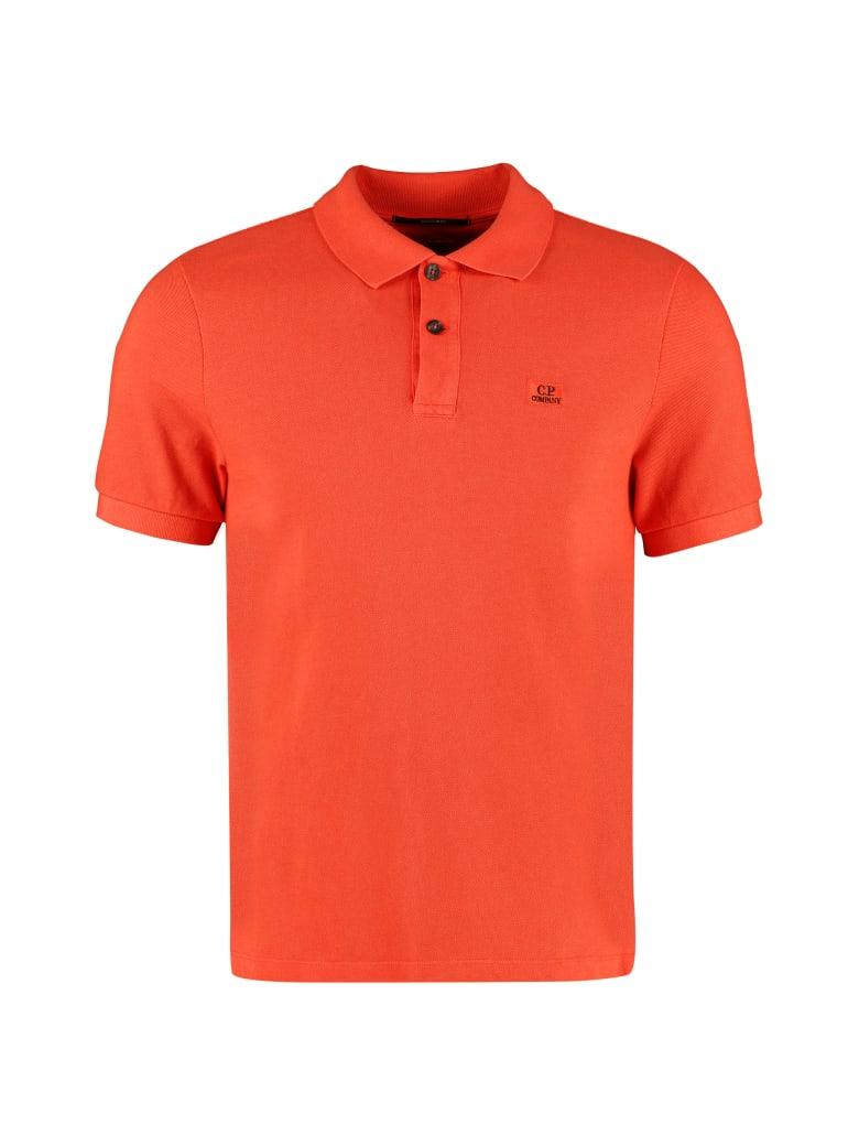 C.P. Company Cotton Piqué Polo Shirt - Orange