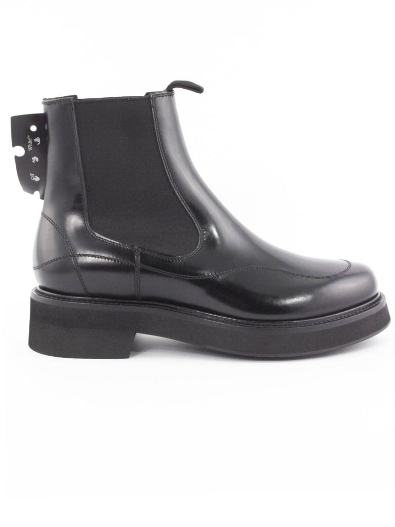 Off-White Black Chelsea Boot - Nero