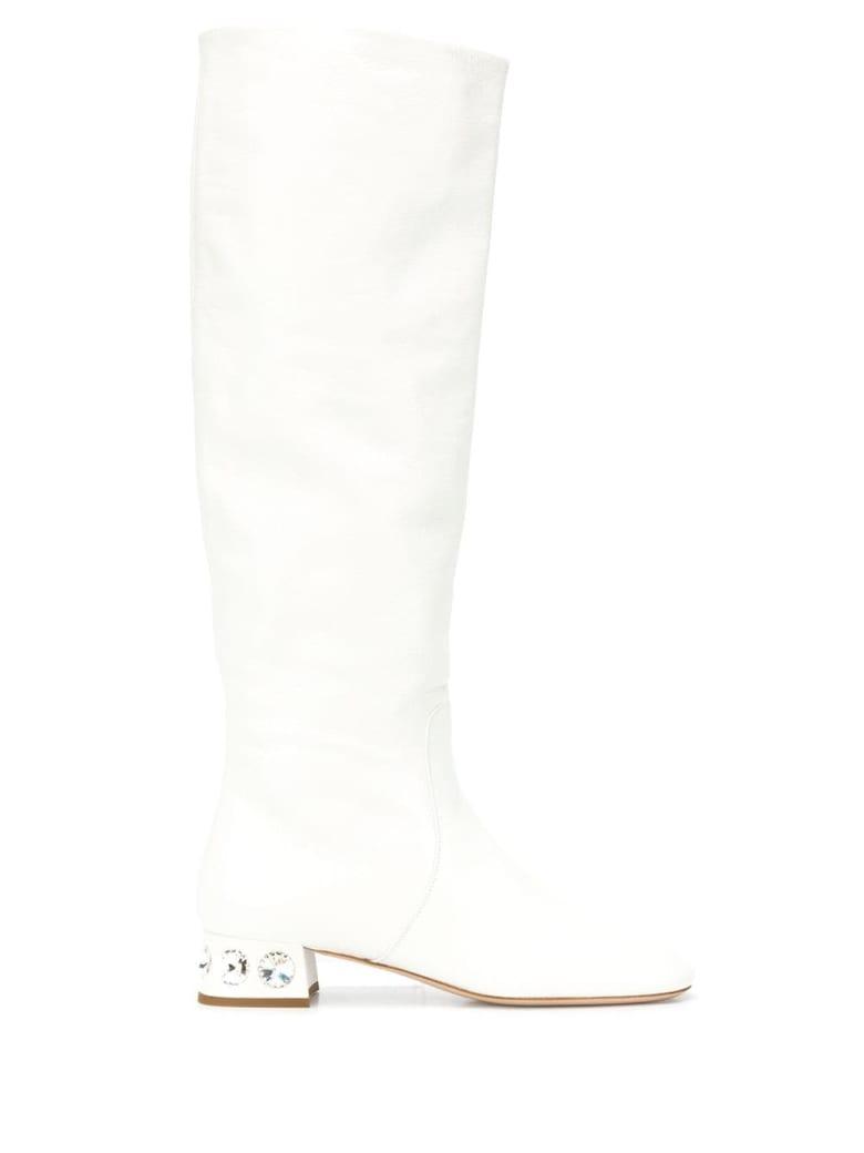 Miu Miu Boot Madras - Bianco