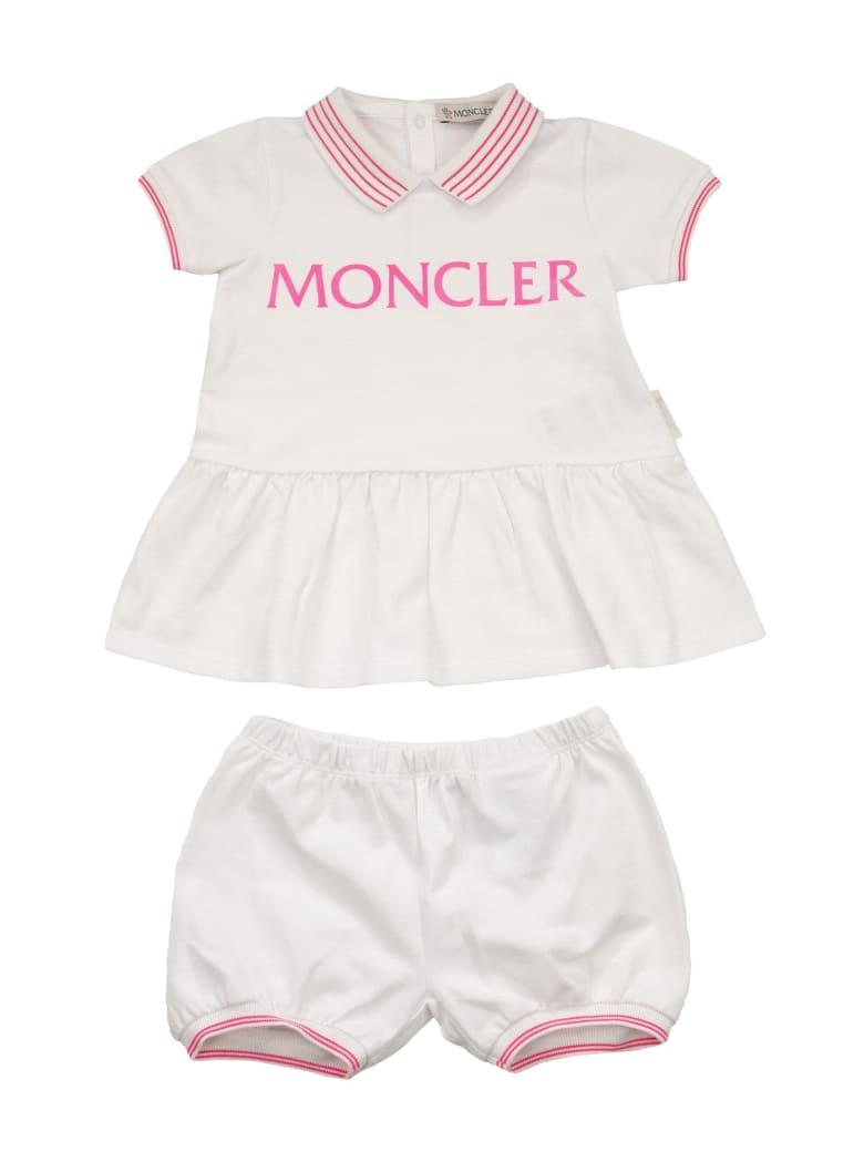 Moncler Two-piece Cotton Dress - Bianco