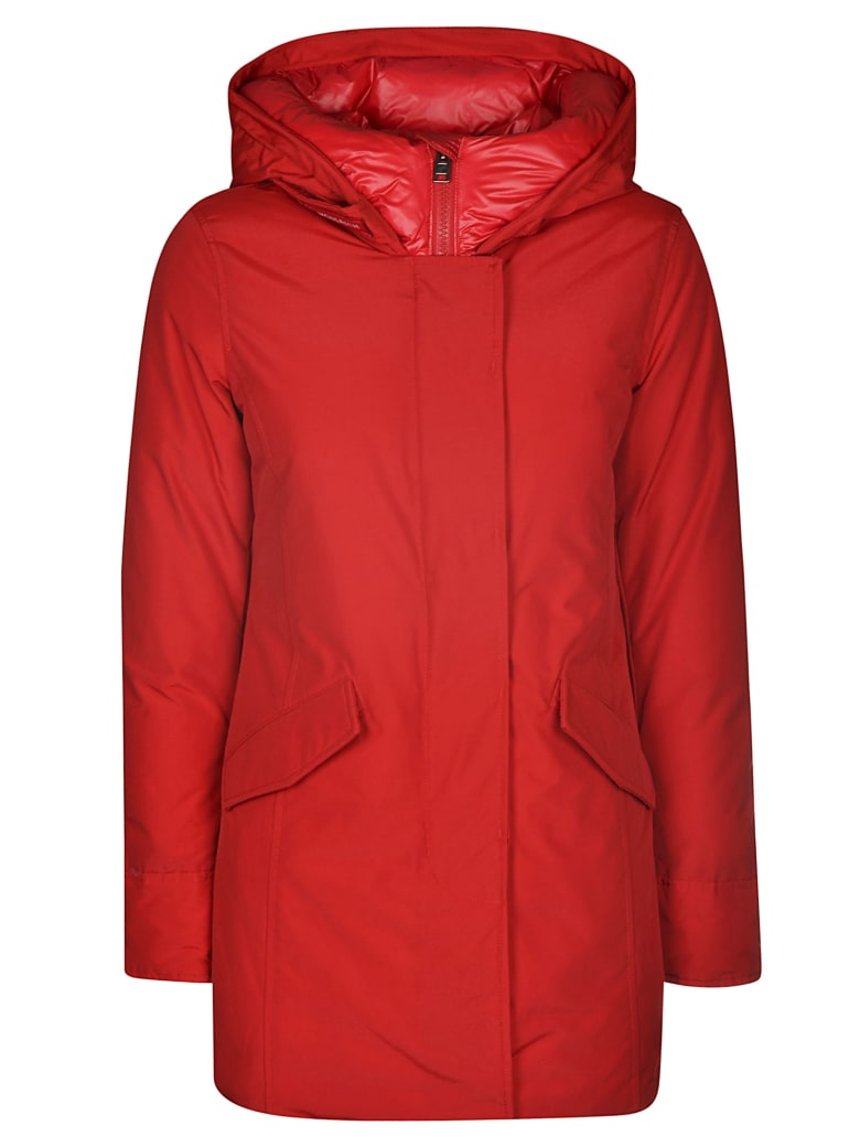 Woolrich Zipped Padded Jacket - Sky/red