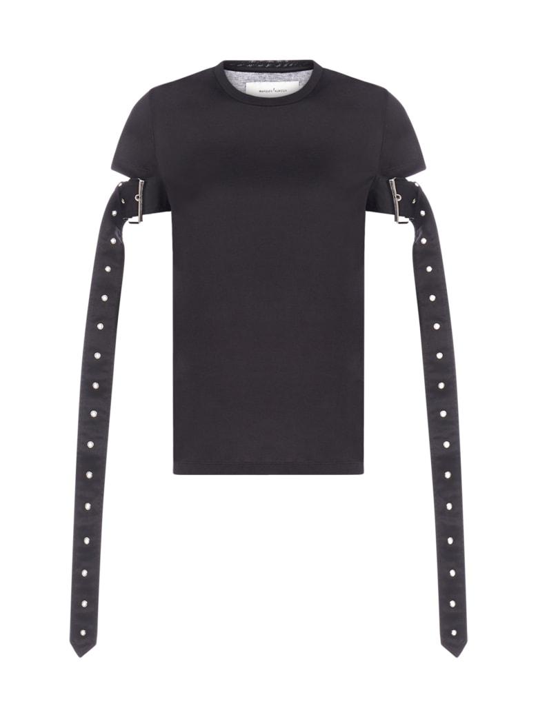 Marques'Almeida Belt-sleeves Cotton T-shirt - Black