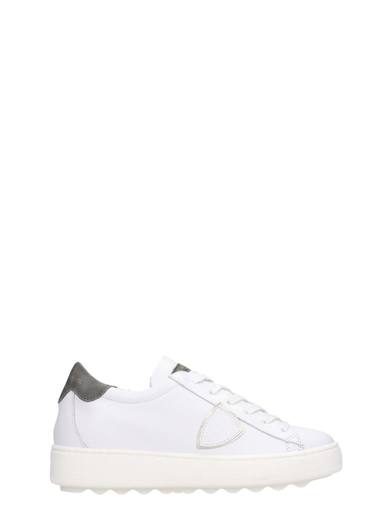 Philippe Model Madeleine Sneakers In White Leather - white