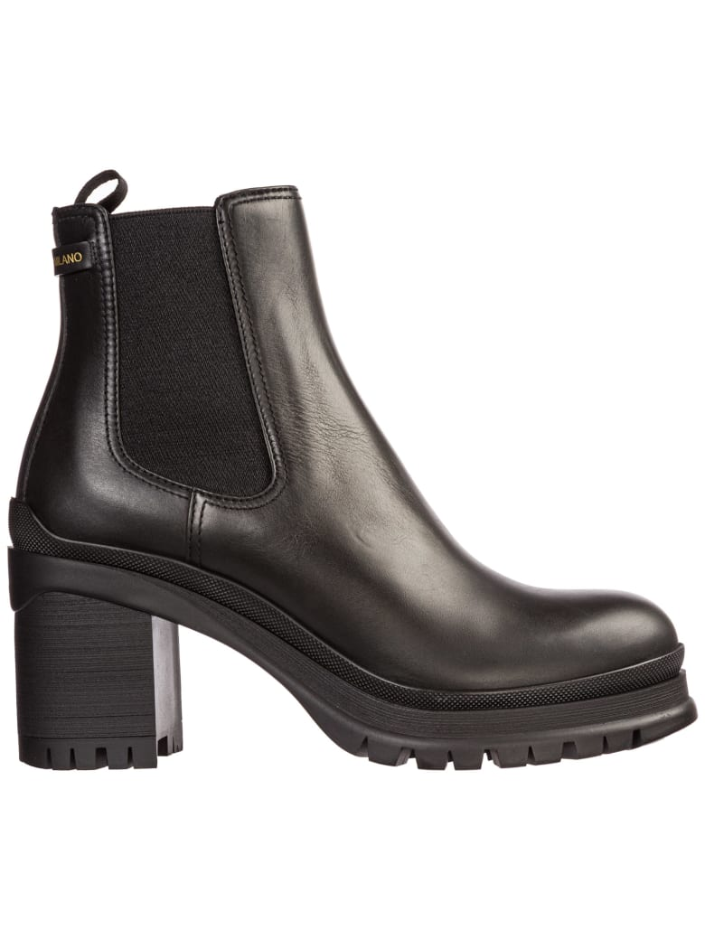 723c71a3 Prada Leather Heel Ankle Boots Booties