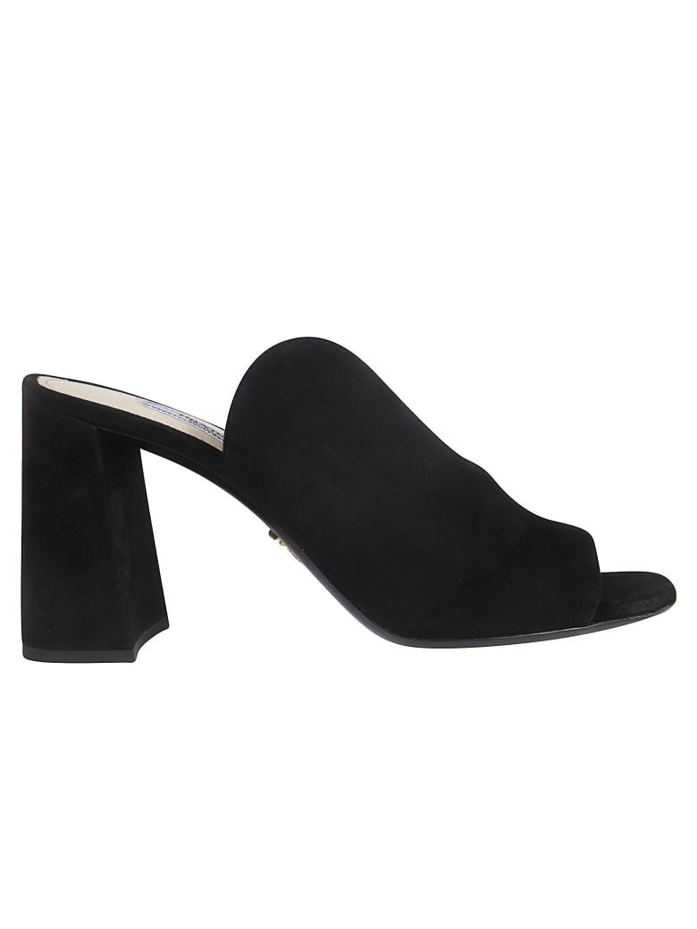 Prada Block Heel Mules - black