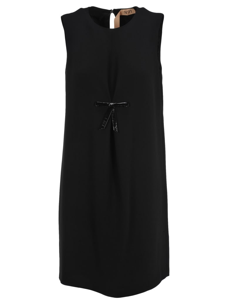 N.21 N21 Bow Detail Dress - BLACK