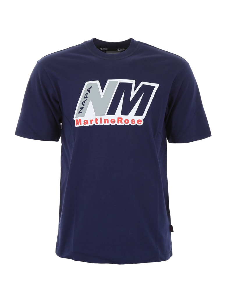 Napa By Martine Rose Logo T-shirt - BLUE (Blue)