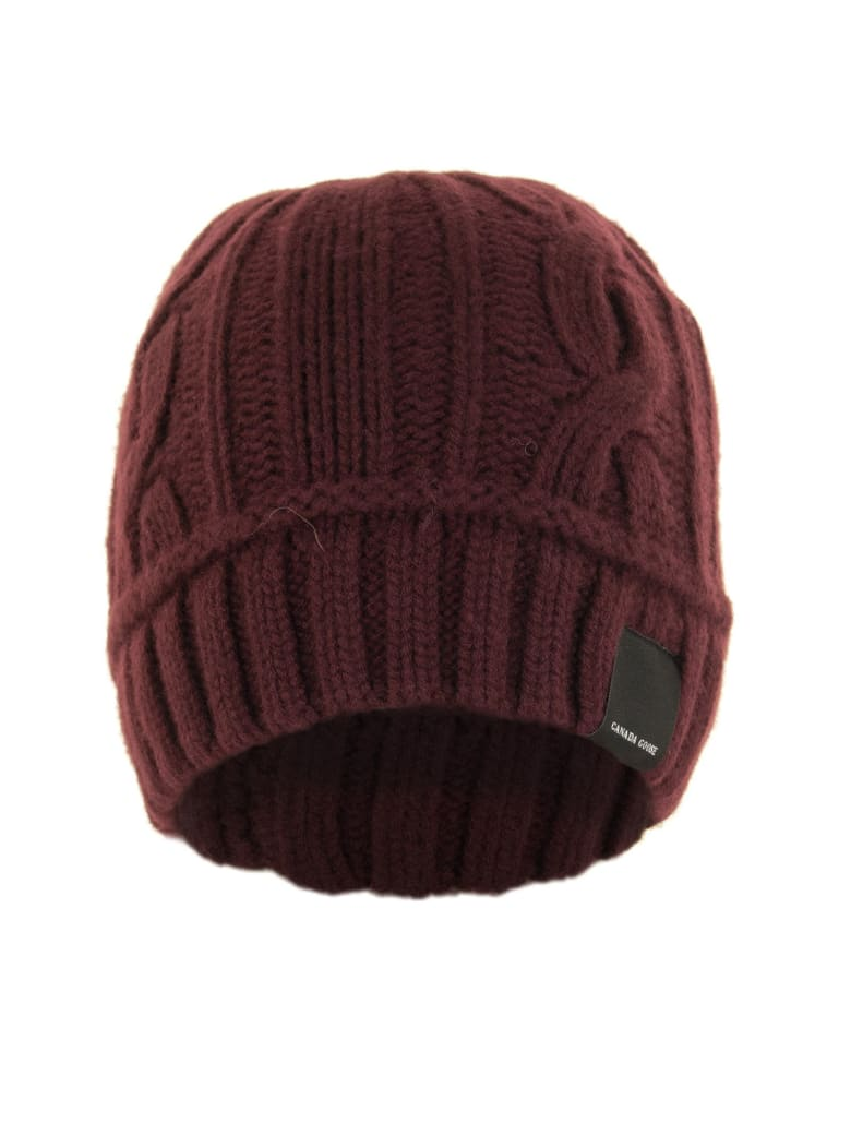 Canada Goose Cable Toque Elderberry Hat - Elderberry