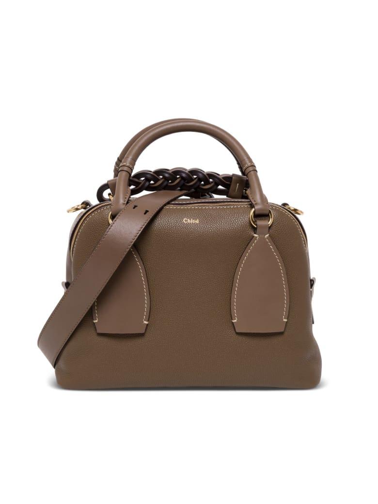 Chloé Daria Medium Leather Handbag - Brown