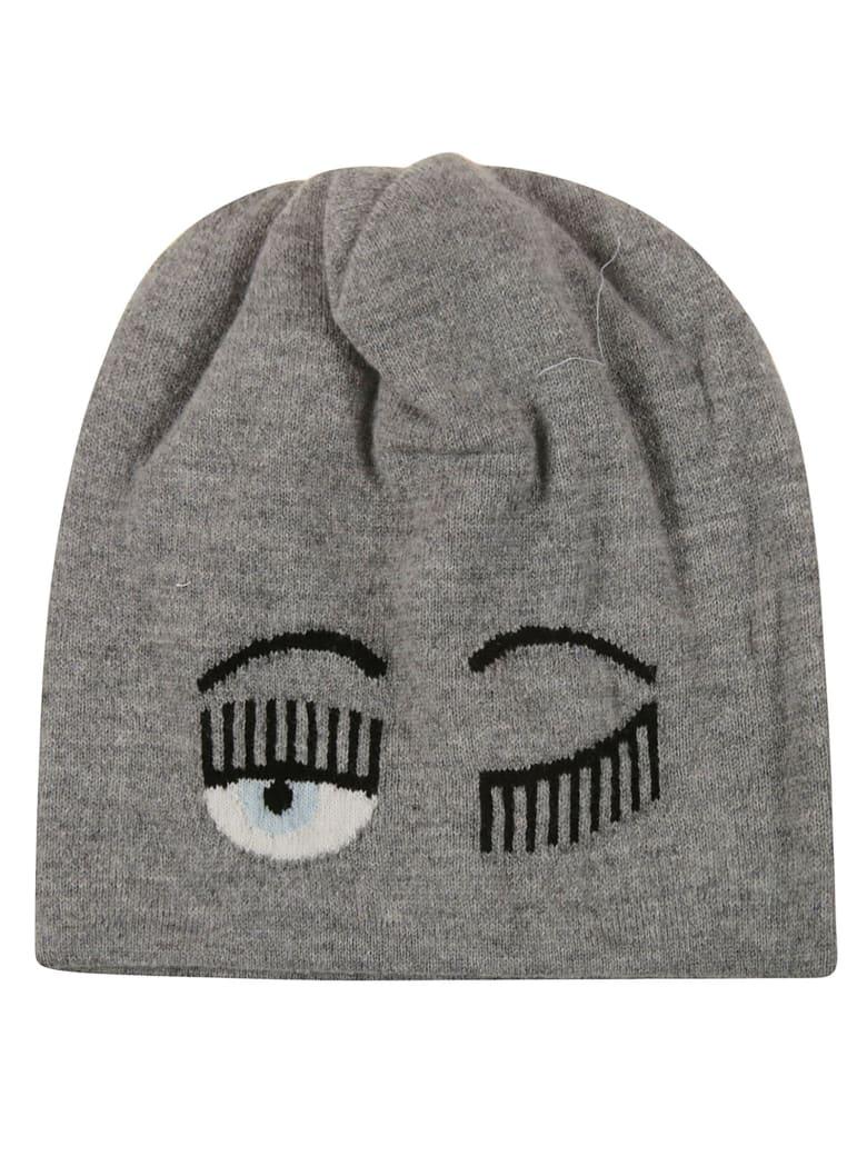 Chiara Ferragni Flirting Eye Beanie - grey
