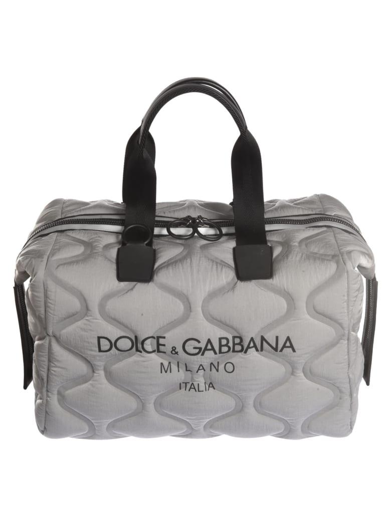 Dolce & Gabbana Logo Print Tote Bag - Silver