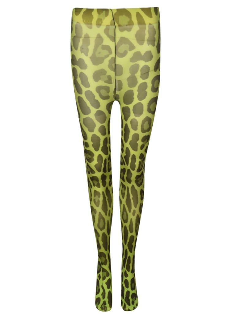 Tom Ford Leopard Print Leggings - Black/Green