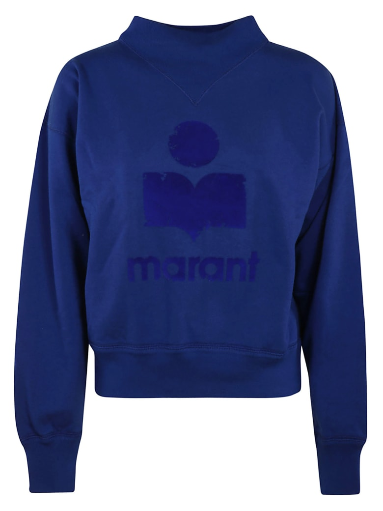 Isabel Marant Logo Detail Sweatshirt - Electric Blue