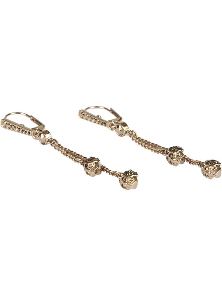 Alexander McQueen Skull Pendant Earrings - silver