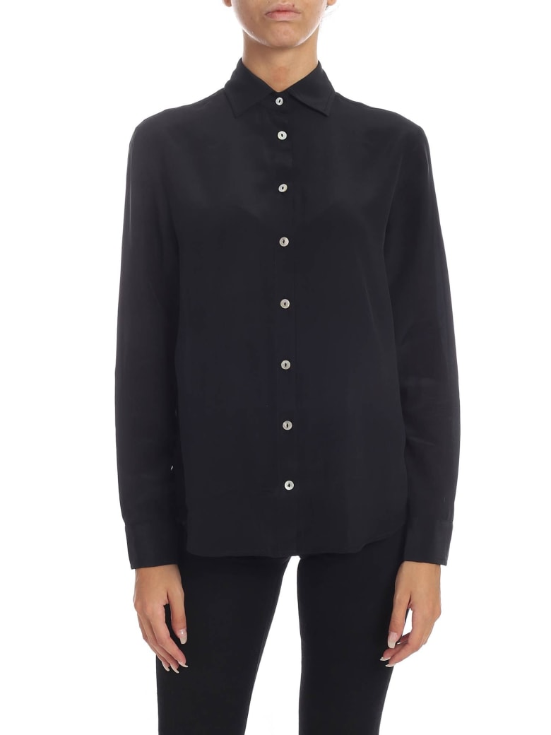 Barba Napoli Barba - Pure Silk Shirt - Black