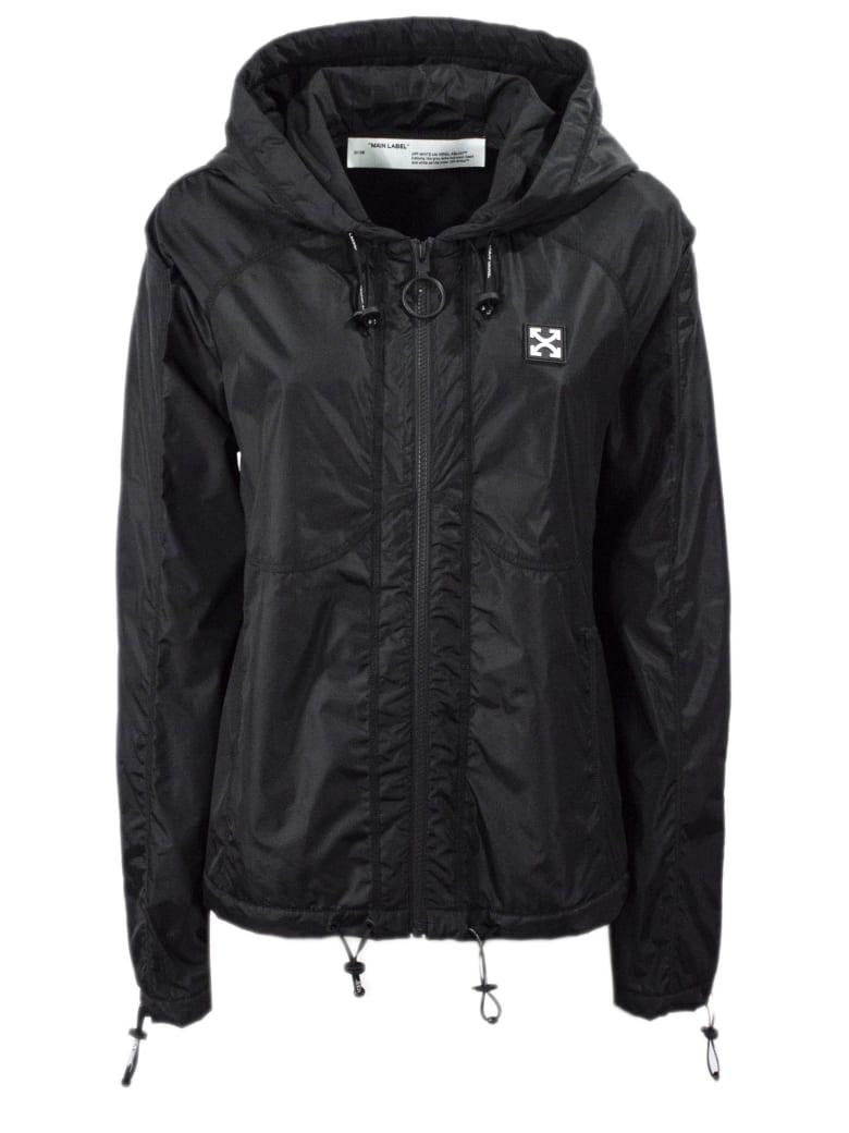 Off-White Black Nylon Jacket - Nero