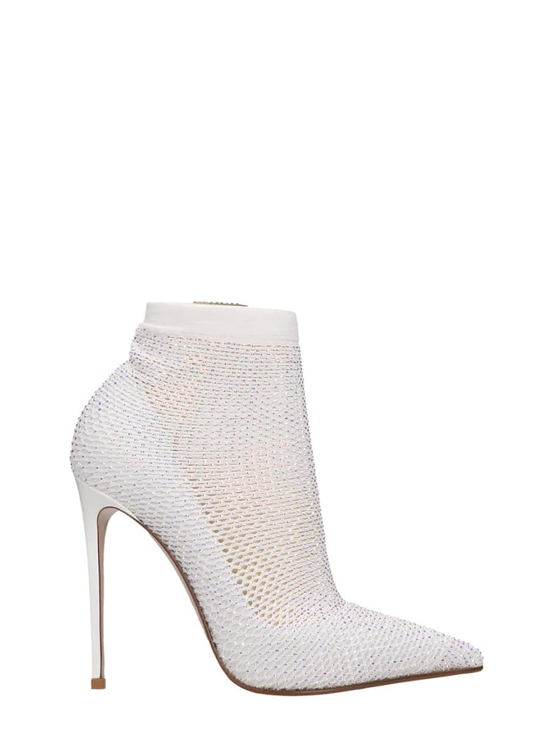 Le Silla High Heels Ankle Boots In White Tech/synthetic - white