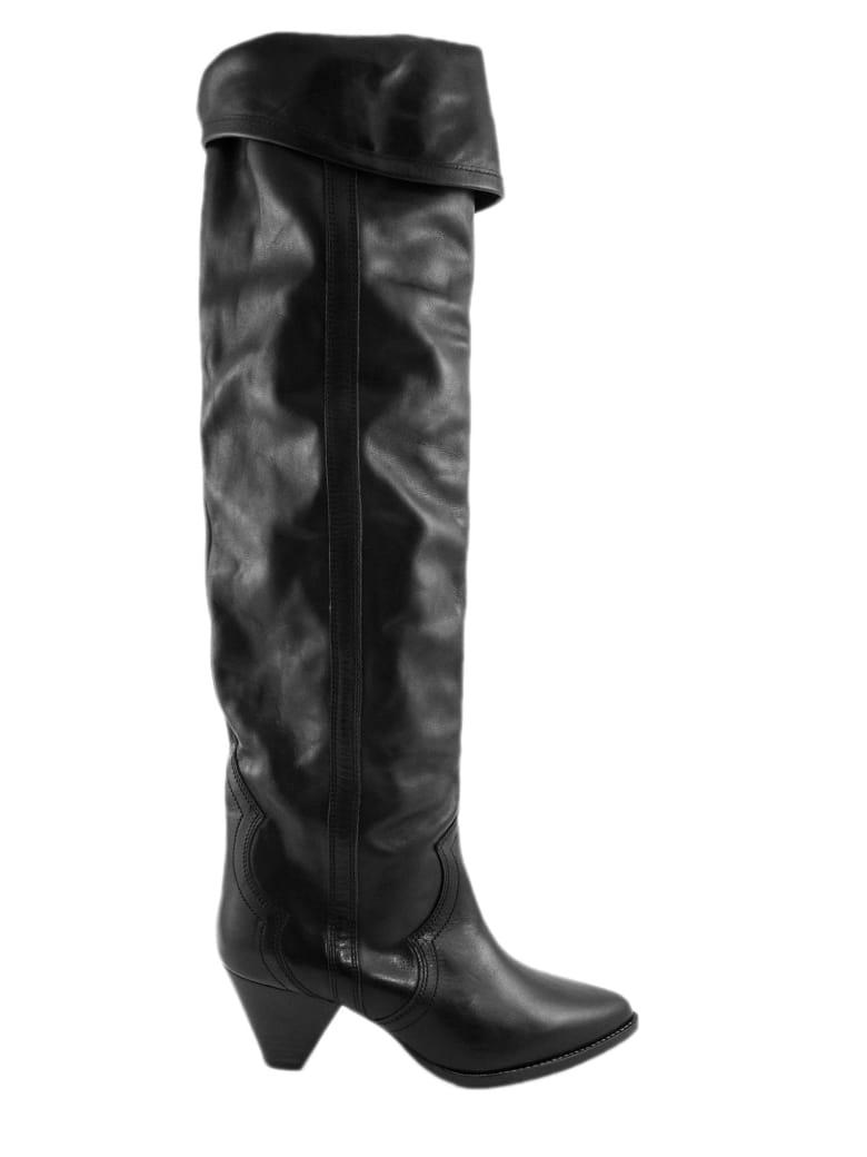 Isabel Marant Black Leather Denvee High Boots - Nero
