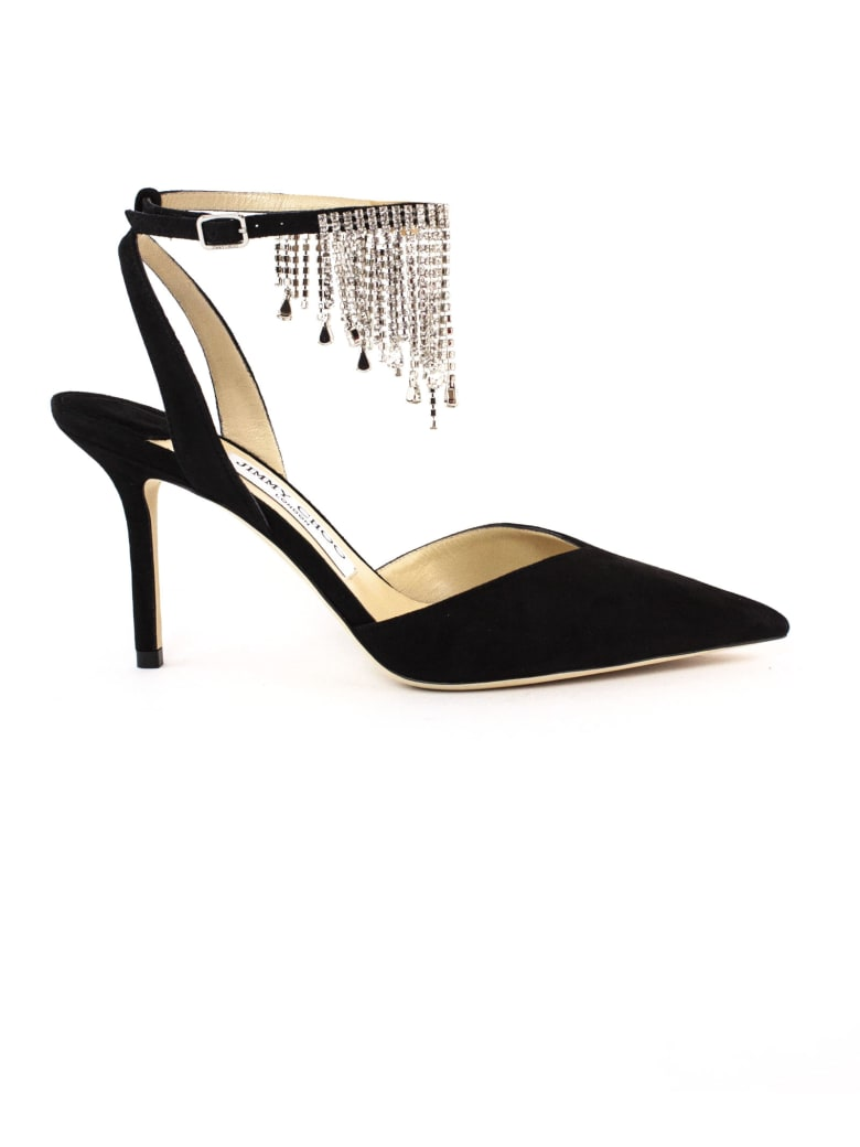 Jimmy Choo Black Suede Birtie Pumps - Nero