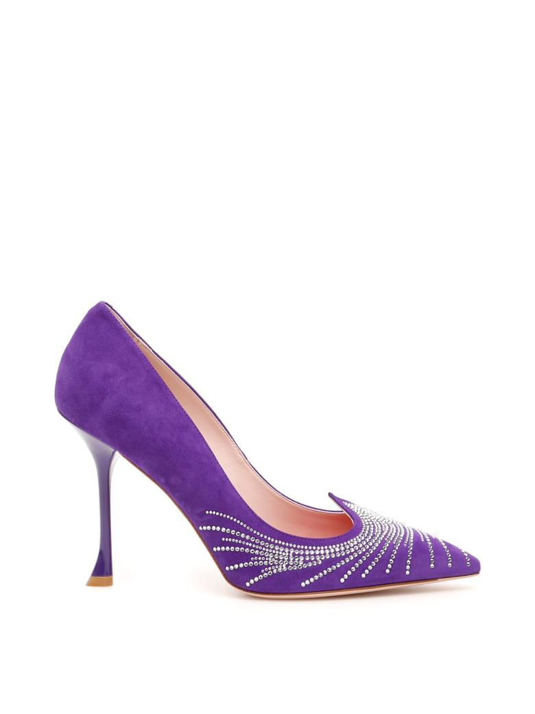 Roger Vivier I Love Vivier 100 Pumps - GIGLIO MEDIO (Purple)
