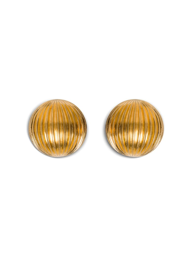 Saint Laurent Bull Gold Color Earrings - Metallic