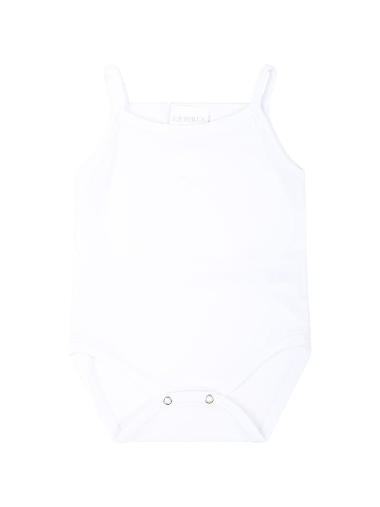La Perla White Body For Babykids With Logo - White