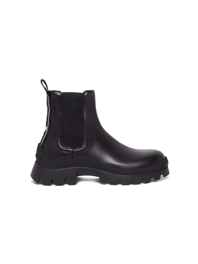 Dsquared2 Beatles Tank Tape Ankle Boots - Black