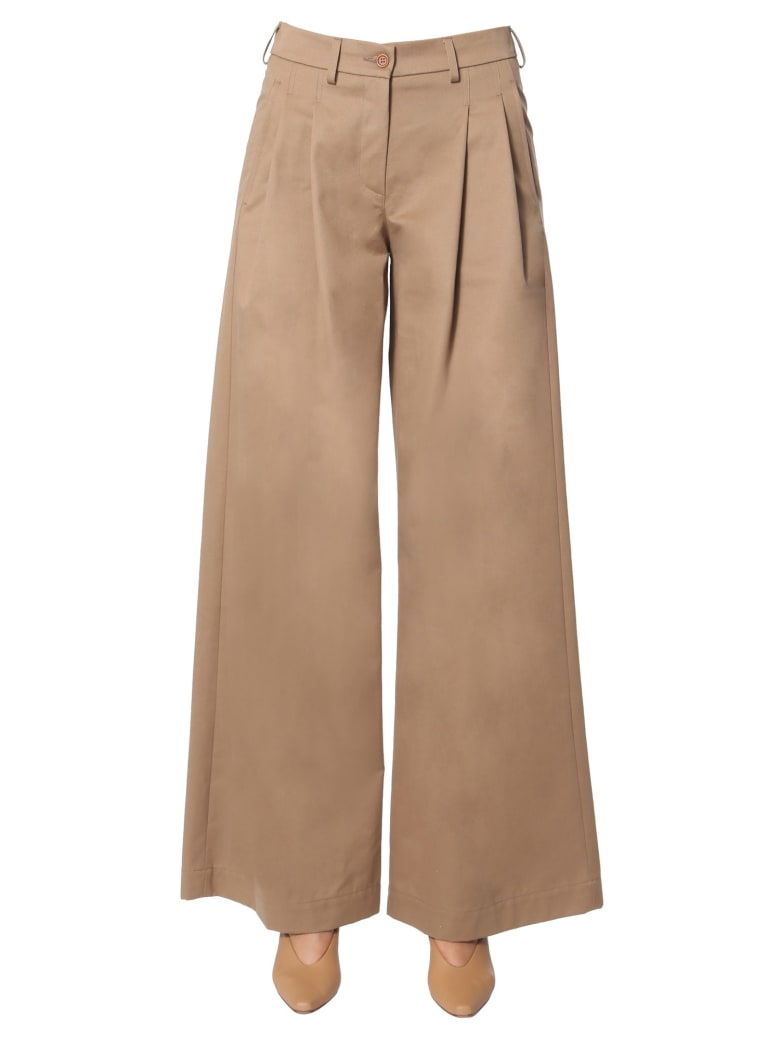 Jejia Pants With Clips - BEIGE