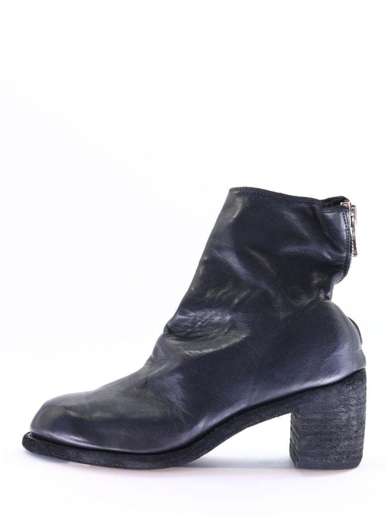 Guidi Black Ankle Boot - Black