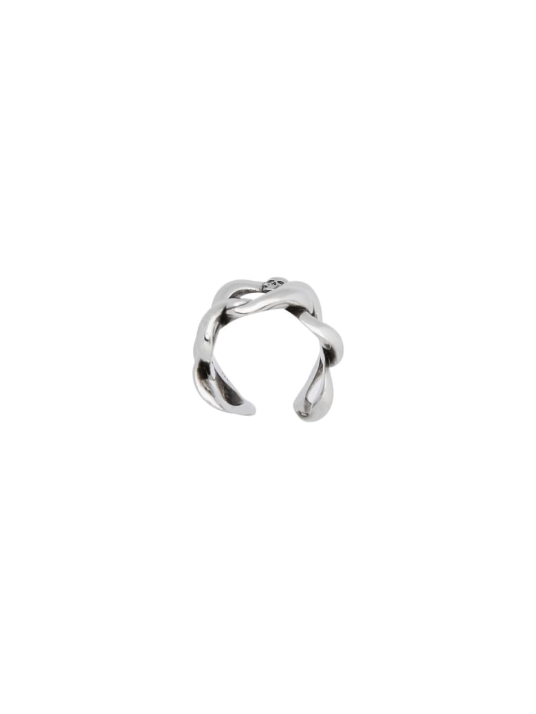 Alexander McQueen Chain And Skull Ring - SILVER