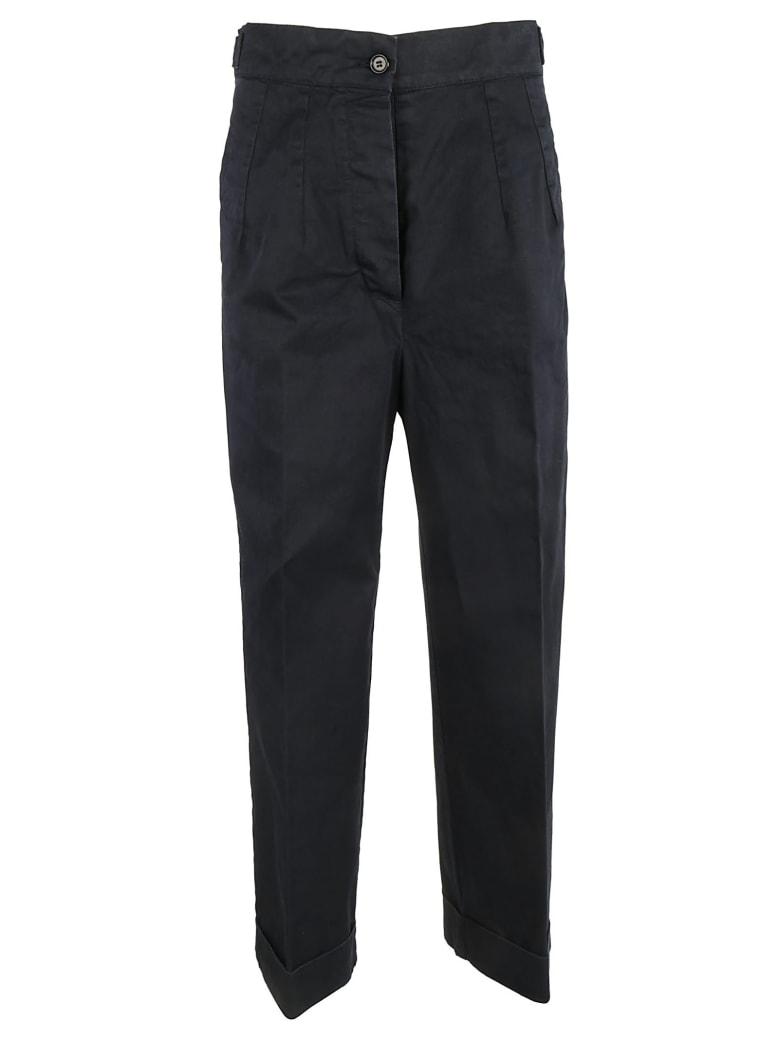Aspesi Turn-up Hem Trousers - Navy