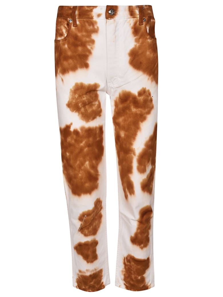 Eckhaus Latta Cow Pattern Jeans - Bianco/multi
