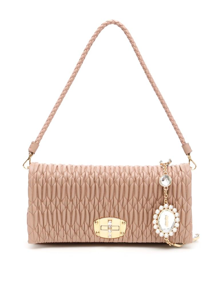 Miu Miu Nappa Miu Crystal Bag - CAMMEO (Pink)
