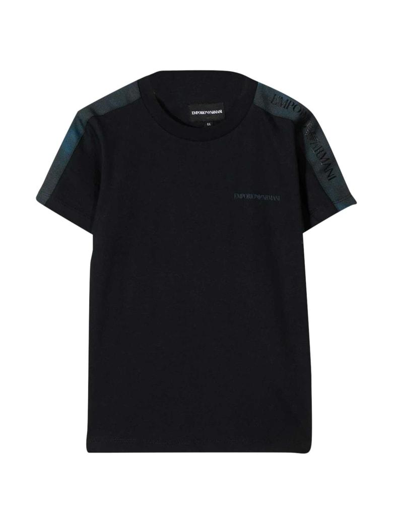 Emporio Armani Teen Black T-shirt - Unica
