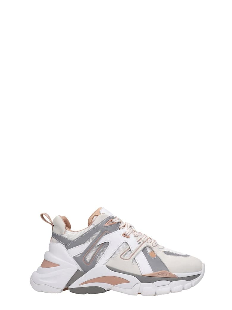 Ash Flash 02 Sneakers In White Tech/synthetic - white
