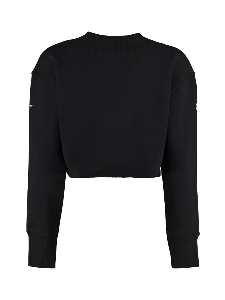 Givenchy Cotton Crew-neck Sweatshirt - black