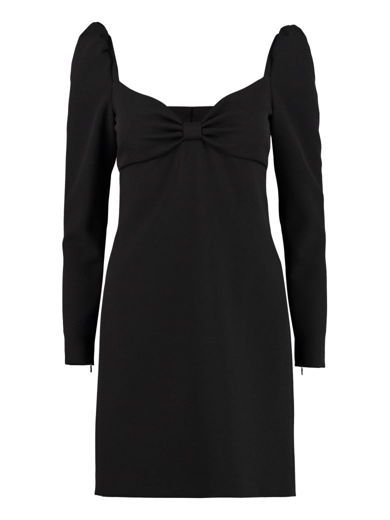 RED Valentino Bow Detail Mini Dress - black