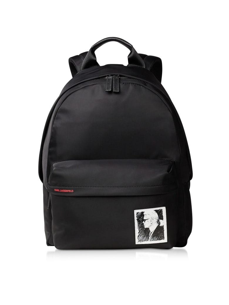 Karl Lagerfeld Karl Legend Nylon Backpack - Black