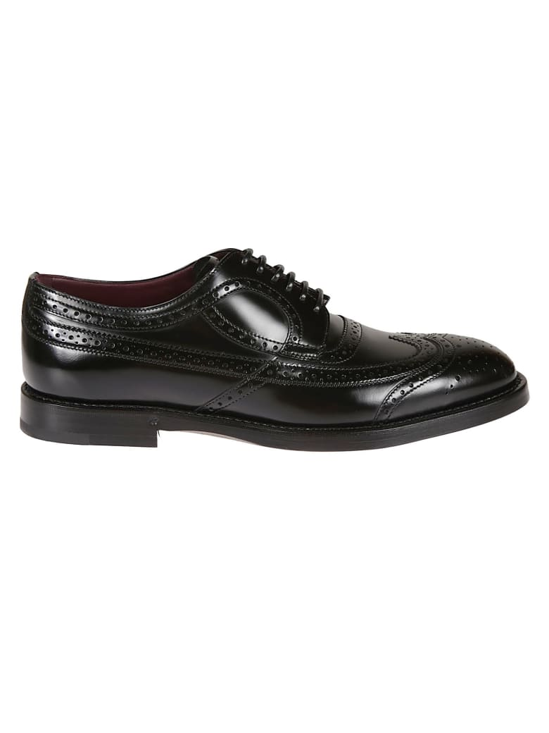 Dolce & Gabbana Classic Perforated Derby Shoes - Black