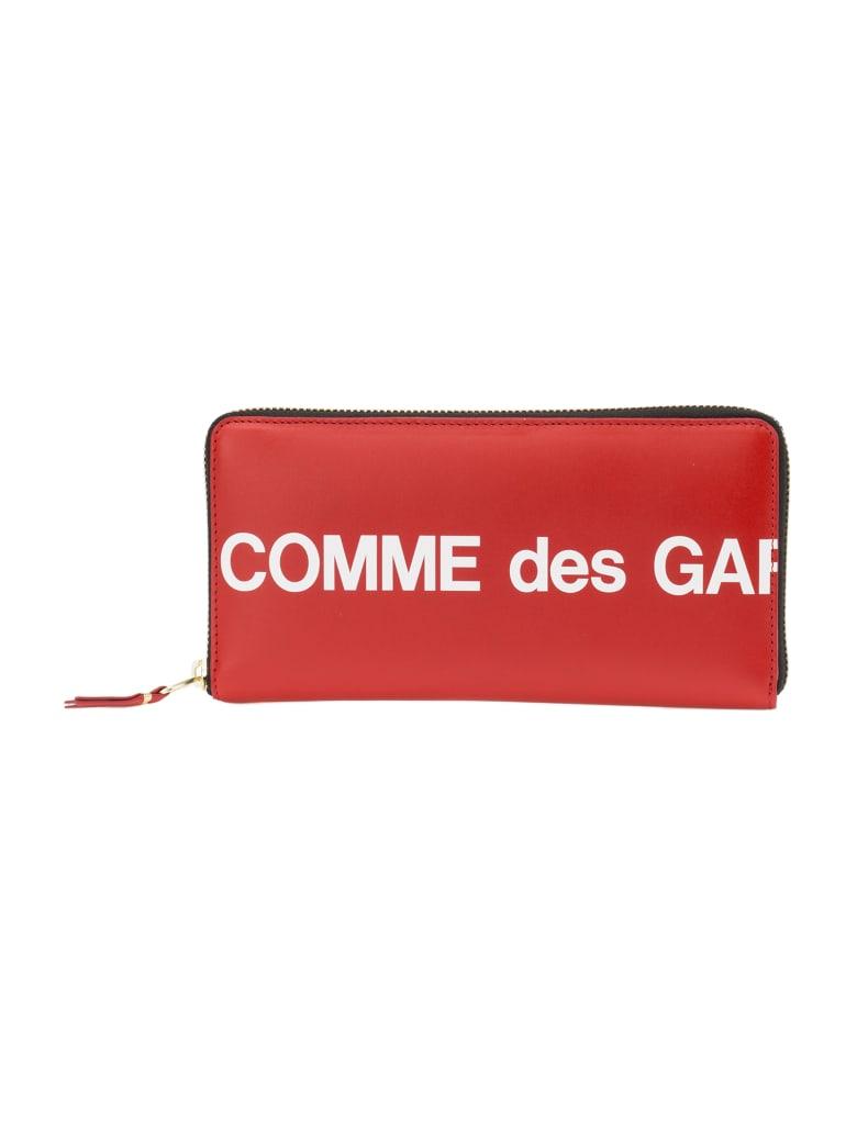 Comme des Garçons Wallet Huge Logo - Red