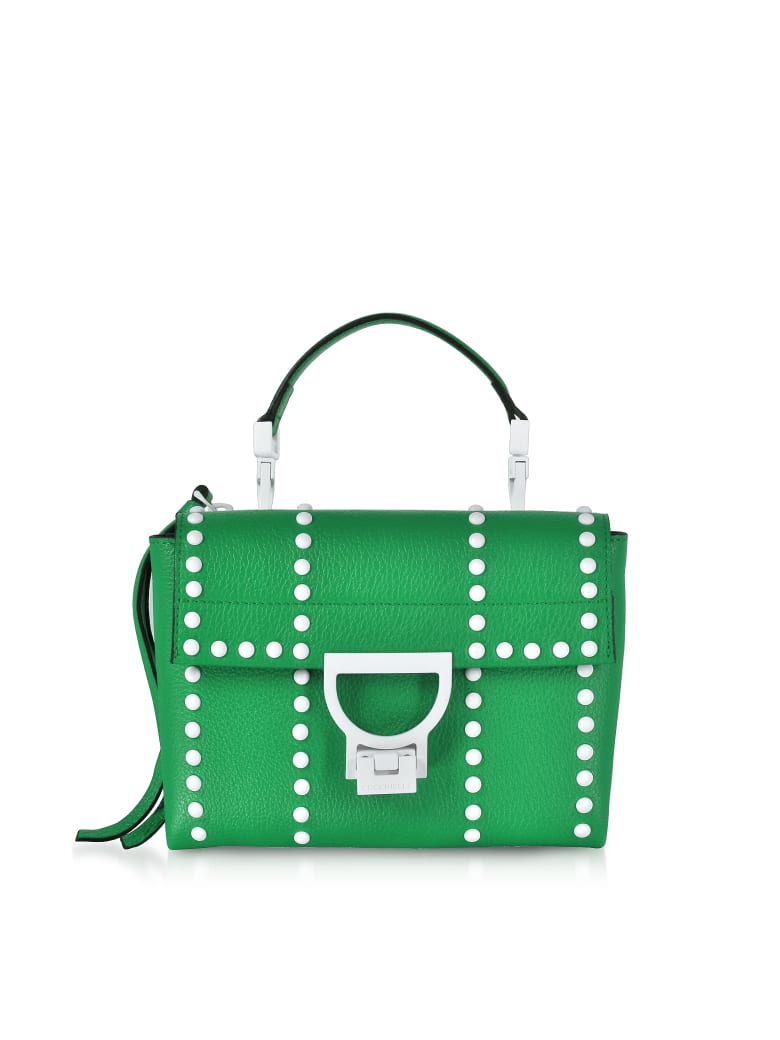 Coccinelle Arlettis Mini Special Studs Leather Shoulder Bag - Green