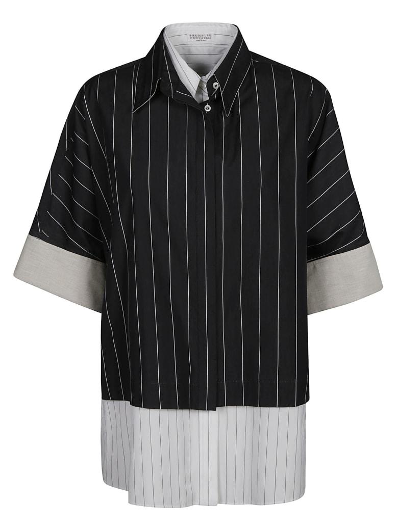 Brunello Cucinelli Striped Shirt - Nero